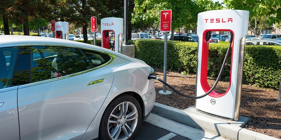 The new Tesla charging station has an output of 250 kW!