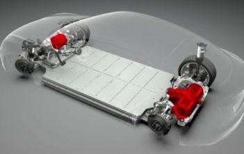 tesla model s x elektromotory