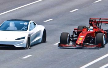 tesla roadster 2 vs formula 1