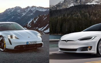 tesla model s vs porsche taycan nurburgring