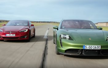 top gear tesla model s porsche taycan