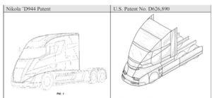 tesla semi nikola one dizajn zaloba patenty