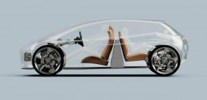 elektromobil bateria medzi sedadlami page-roberts